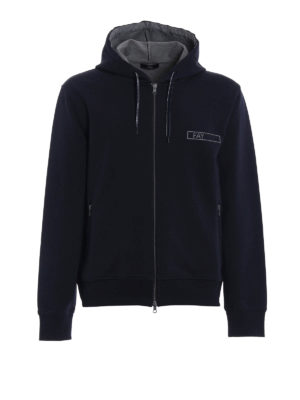 Fay: Sweatshirts & Sweaters - Rubber logo detailed cotton hoodie