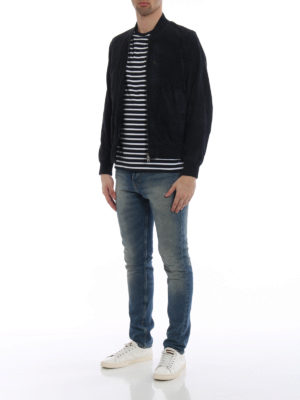 Fay: t-shirts online - Chest pocket striped T-shirt