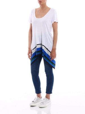 Fay: t-shirts online - Silk detail viscose T-shirt