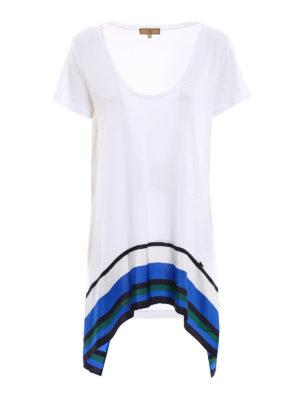 Fay: t-shirts - Silk detail viscose T-shirt