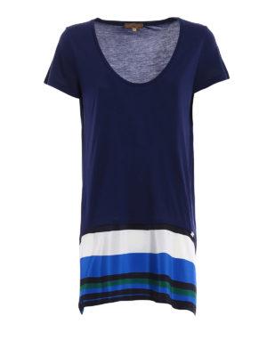 Fay: t-shirts - Silk detailed viscose T-shirt