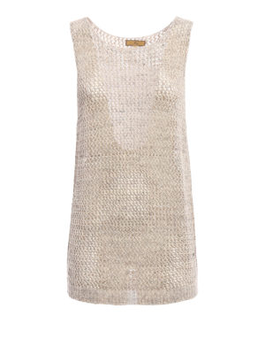 Fay: Tops & Tank tops - Linen and cotton blend tank top