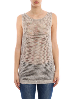 Fay: Tops & Tank tops online - Linen and cotton blend tank top