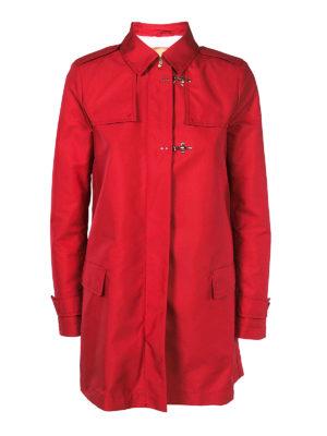 FAY: cappotti trench - Trench rosso corto stile militare