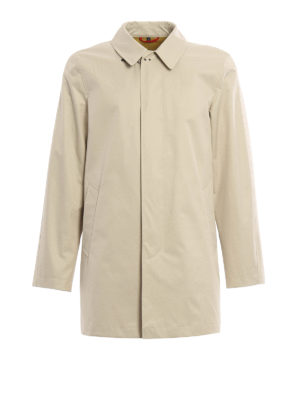 Fay: trench coats - Coated cotton classic trench coat