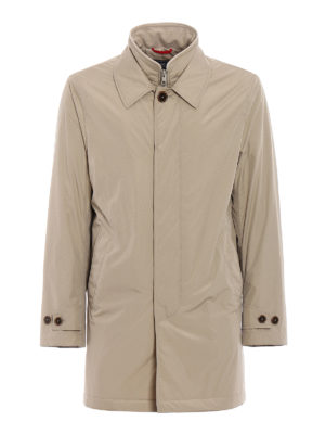 Fay: trench coats - Double front beige techno trench