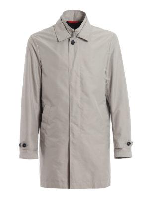 FAY  cappotti trench - Trench Morning grigio chiaro con double front 91e2822c64b
