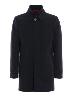 FAY: cappotti trench - Trench blu scuro con double front imbottito