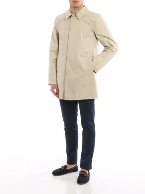 Fay: trench coats online - Coated cotton classic trench coat