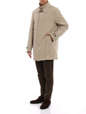 Fay: trench coats online - Double front beige techno trench