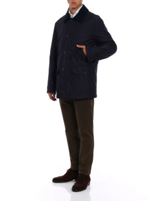 Fay: trench coats online - Padded blue techno trench
