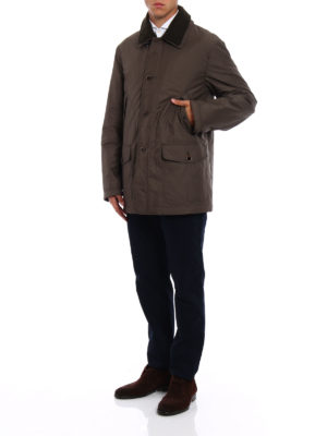 Fay: trench coats online - Padded brown techno trench