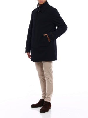 Fay: trench coats online - Wool blend double front trench coat