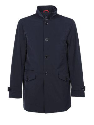 Fay: trench coats - Techno fabric short trench coat