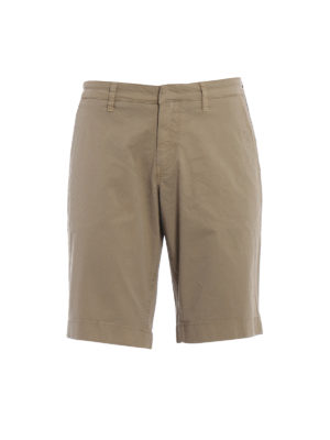 Fay: Trousers Shorts - Beige stretch cotton short trousers
