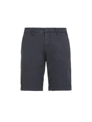 FAY: pantaloni shorts - Bermuda in cotone stretch blu
