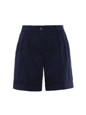 Fay: Trousers Shorts - Cotton pleated shorts