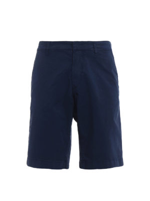 Fay: Trousers Shorts - Dark blue cotton short trousers