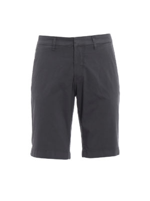 Fay: Trousers Shorts - Grey stretch cotton short trousers