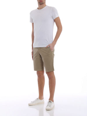 Fay: Trousers Shorts online - Beige stretch cotton short trousers