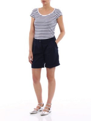 Fay: Trousers Shorts online - Cotton pleated shorts