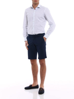 Fay: Trousers Shorts online - Dark blue cotton short trousers