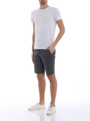 Fay: Trousers Shorts online - Grey stretch cotton short trousers