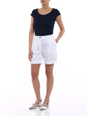 Fay: Trousers Shorts online - Pleated cotton shorts
