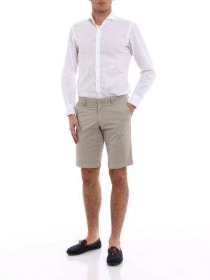 Fay: Trousers Shorts online - Sand cotton short trousers