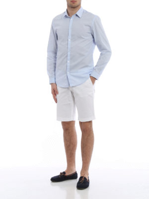 Fay: Trousers Shorts online - Stretch cotton bermuda shorts