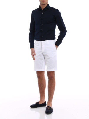 Fay: Trousers Shorts online - White cotton short trousers