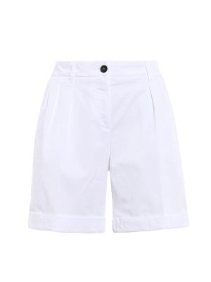 Fay: Trousers Shorts - Pleated cotton shorts