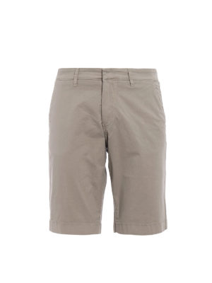 Fay: Trousers Shorts - Sand cotton short trousers