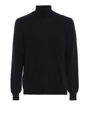 FAY: maglia a collo alto e polo - Morbido dolcevita in lana vergine nera