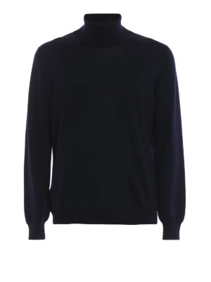 FAY: maglia a collo alto e polo - Morbido dolcevita in lana vergine blu