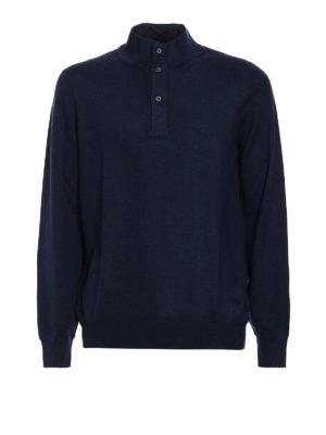 Fay: Turtlenecks & Polo necks - Double front polo wool sweater