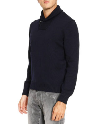 Fay: Turtlenecks & Polo necks online - Ribbed collar wool sweater