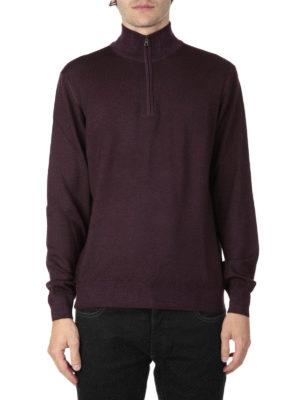 Fay: Turtlenecks & Polo necks online - Wool zipped mock neck sweater