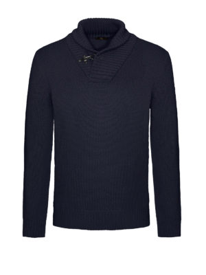 Fay: Turtlenecks & Polo necks - Ribbed collar wool sweater
