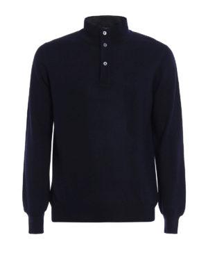 FAY: maglia a collo alto e polo - Polo in lana con doppio collo