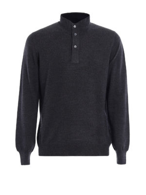 Fay: Turtlenecks & Polo necks - Wool double front polo sweater