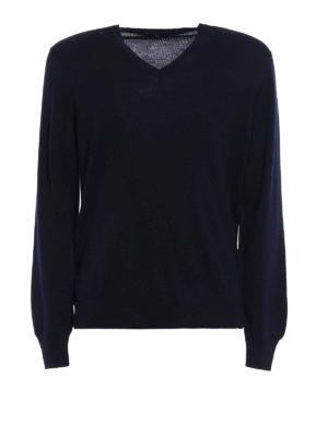 Fay: v necks - Lightweight wool V-neck sweater
