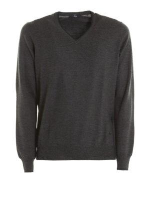 Fay: v necks - Virgin wool sweater