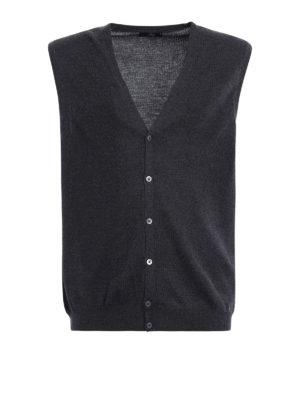 Fay: vests - Lightweight wool vest cardigan