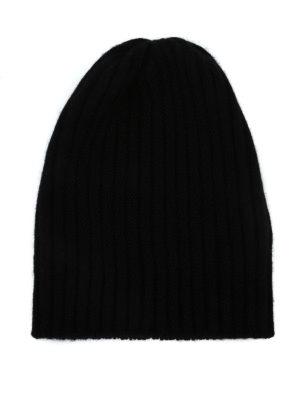 FEDELI: berretti - Berretto in cashmere a coste nero