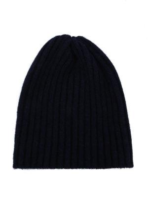 FEDELI: berretti - Berretto in cashmere a coste blu