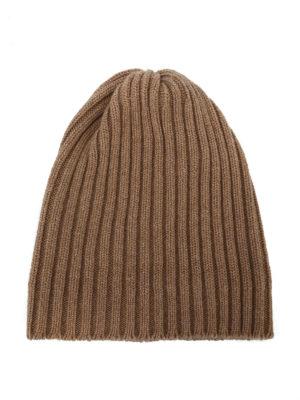 FEDELI: berretti - Berretto in cashmere a coste cammello