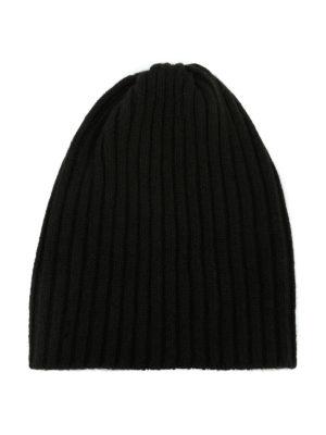 FEDELI: berretti - Berretto in cashmere a coste fango