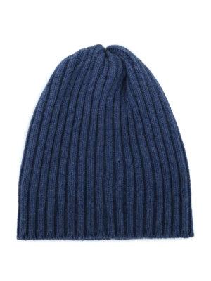 FEDELI: berretti - Berretto in cashmere a coste carta zucchero
