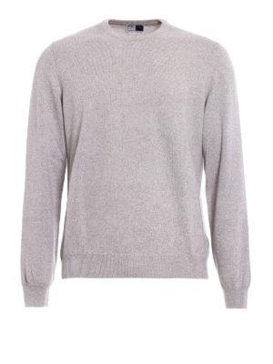 Fedeli: crew necks - Melange cashmere slim sweater